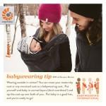 Babywearing Tips Winter Wearing