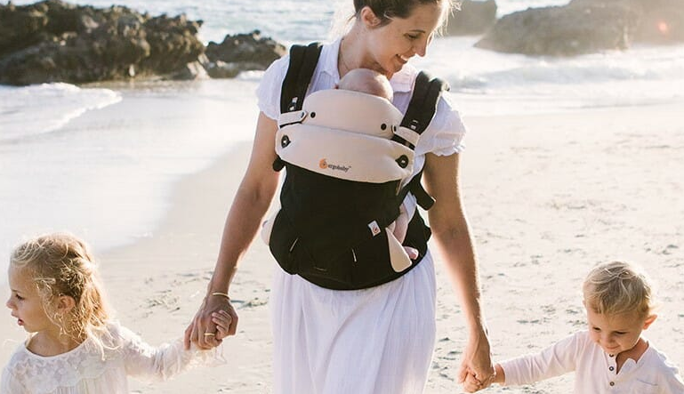 The infant insert keeps young babies safe and comfortable in their carriers