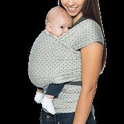 Aura Baby Wrap: Pearl Grey Dots