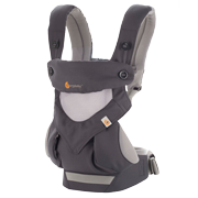360 All Positions Baby Carrier: Cool Air Mesh - Carbon Grey