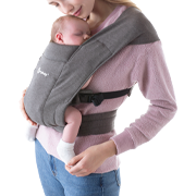 Embrace Cozy Newborn Carrier: Heather Grey