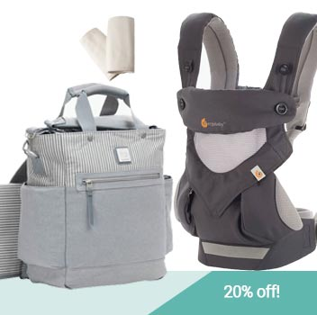 Ergobaby Diaper Bag and Baby Carrier Bundle - 20% off