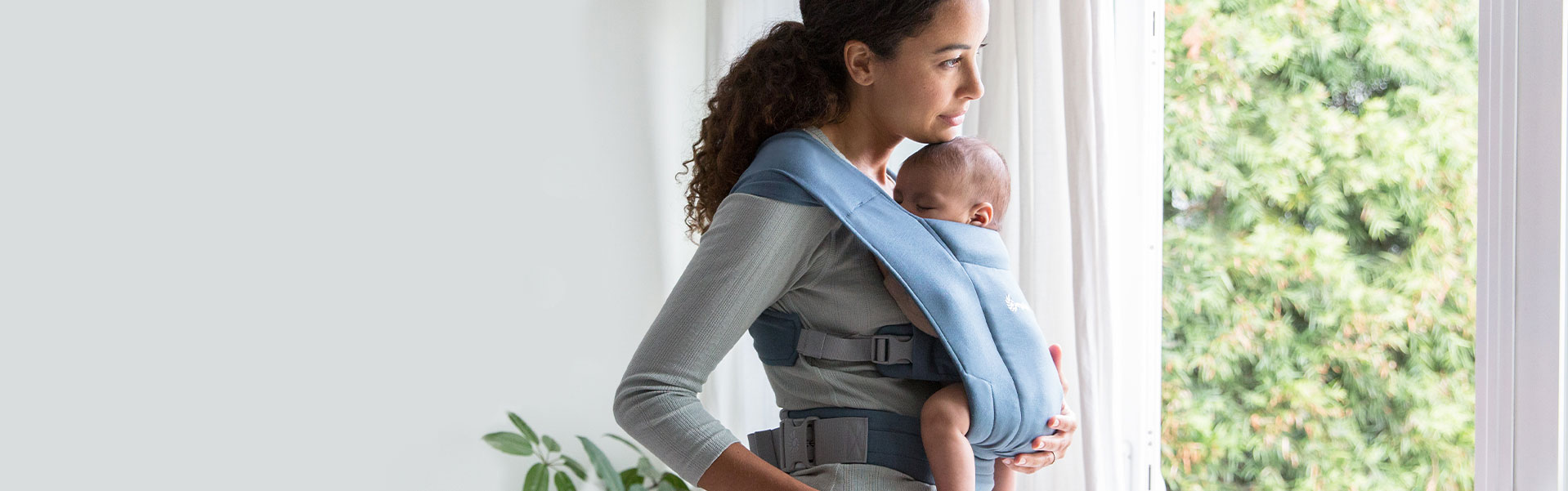 Mom baby in Embrace Carrier