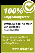 miBaby Omni 360 Siegel 100% Empfehlungsrate