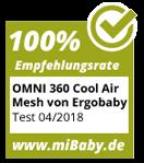 mibaby Siegel 100% Empfehlung Omni 360 Cool Air Mesh