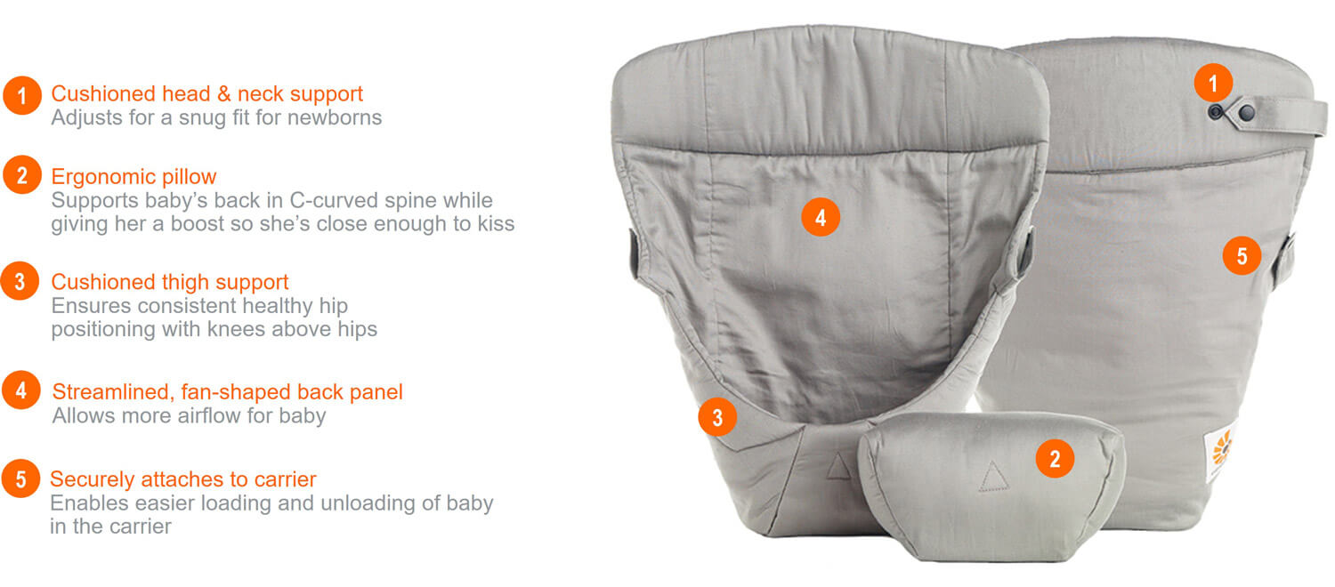 Ergobaby Easy Snug Infant Insert Features