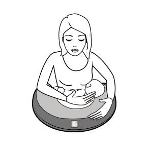 Natural Curve Nursing Pillow Breastfeeding Pillow For