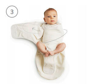 Ergobaby Swaddler - Usage Step 3